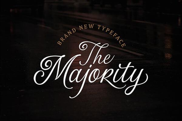 The Majority Wedding Script Font