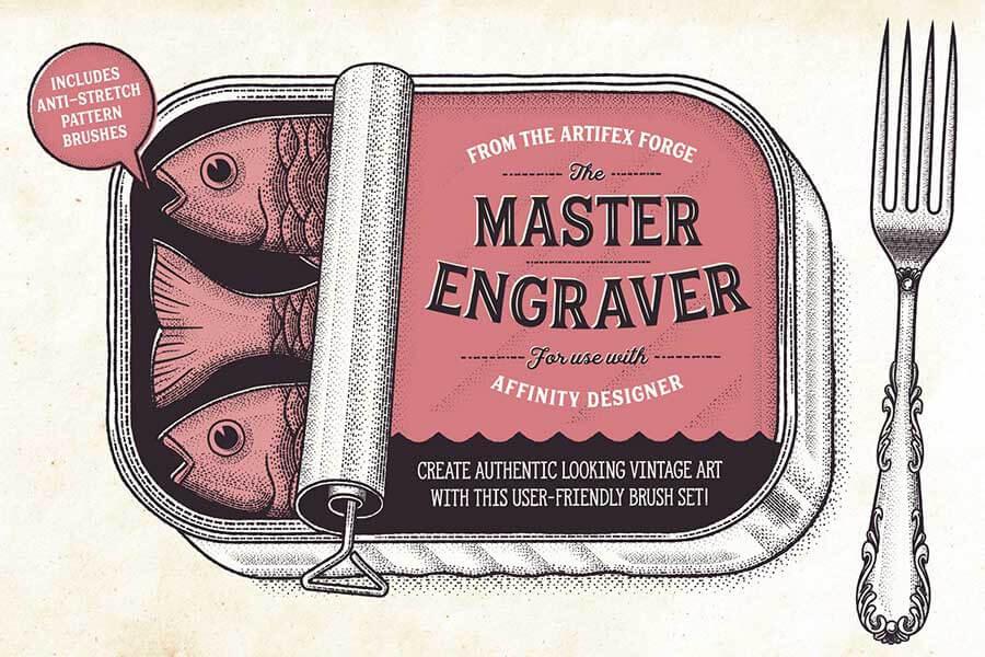 The Master Engraver — Affinity Brushes