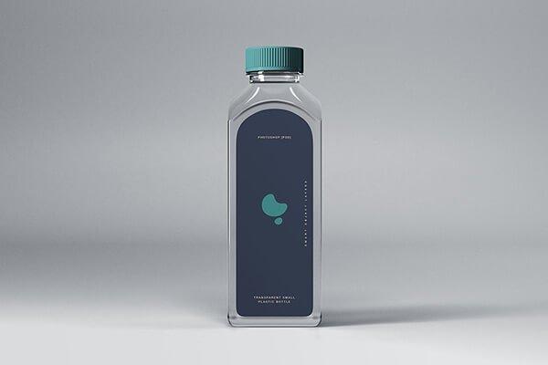 Transparent Plastic Bottle Mockup