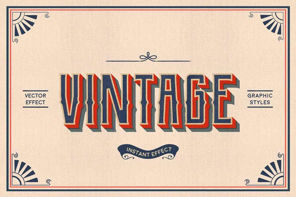 Vintage Text Effects (Illustrator)