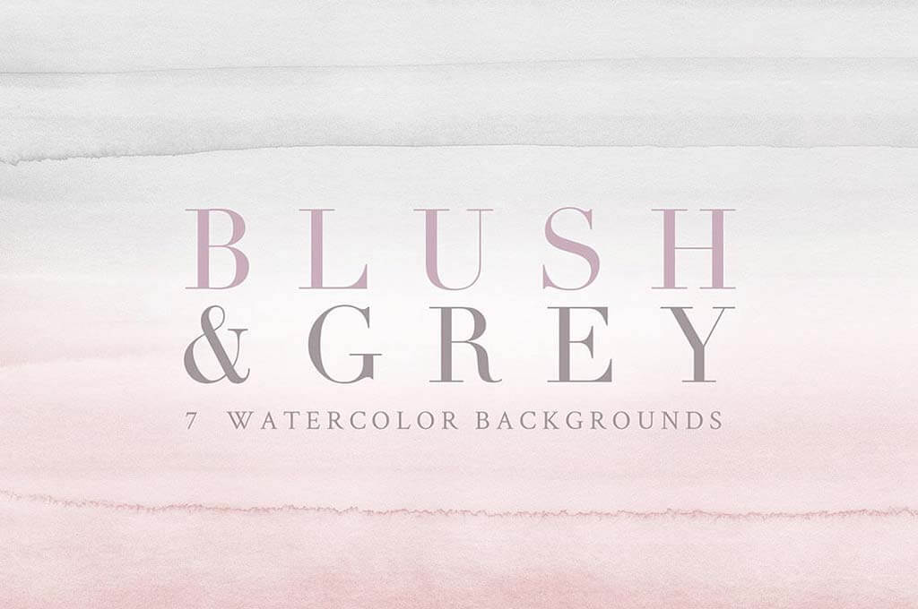 Watercolor Backgrounds — Blush/Grey