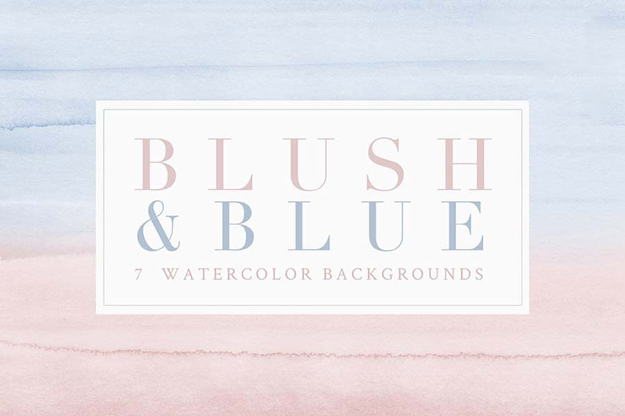 Watercolor Backgrounds - Blush/Blue