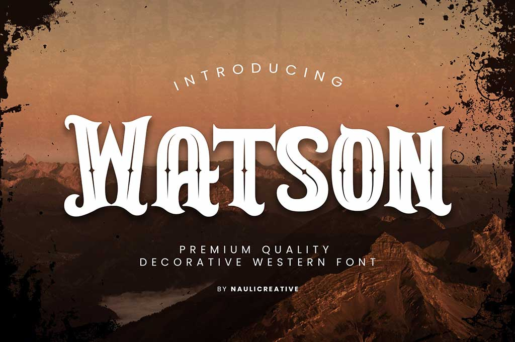 Watson - Vintage Western Font