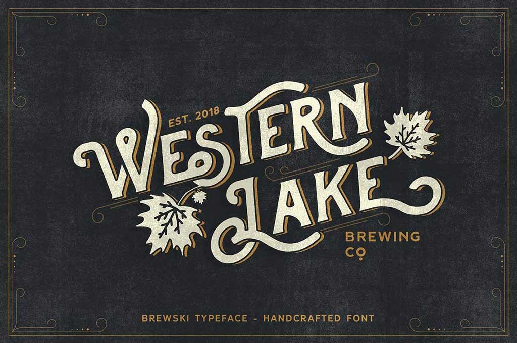 Western Lake – Brewski Typeface