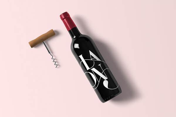 Wine Bottle Mockup Template