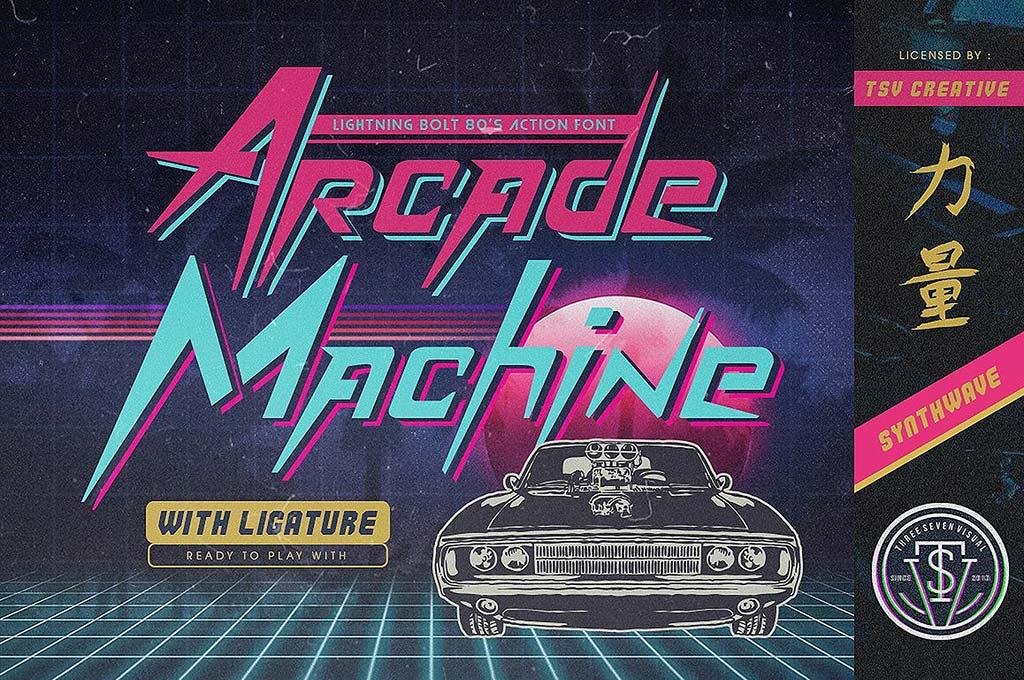 Arcade Machine 80's Retro Font