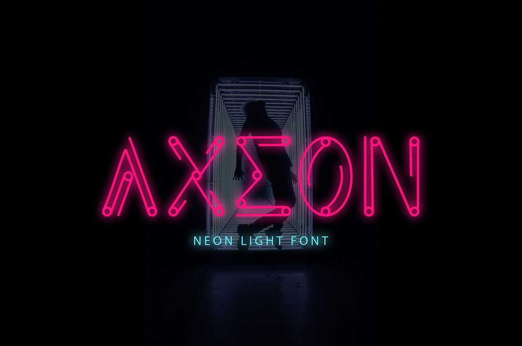 Axeon — Futuristic Typeface DR