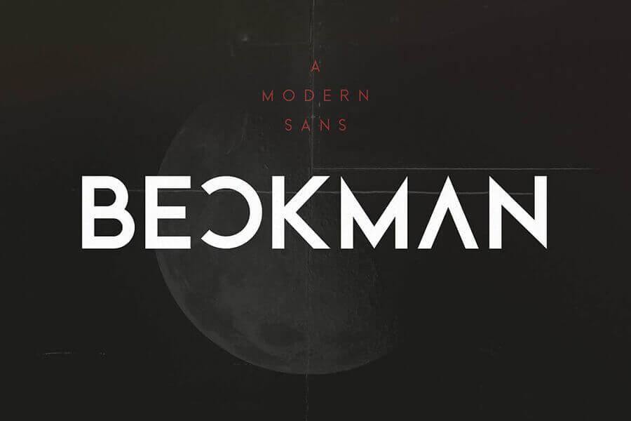 Beckman – Free Modern Font