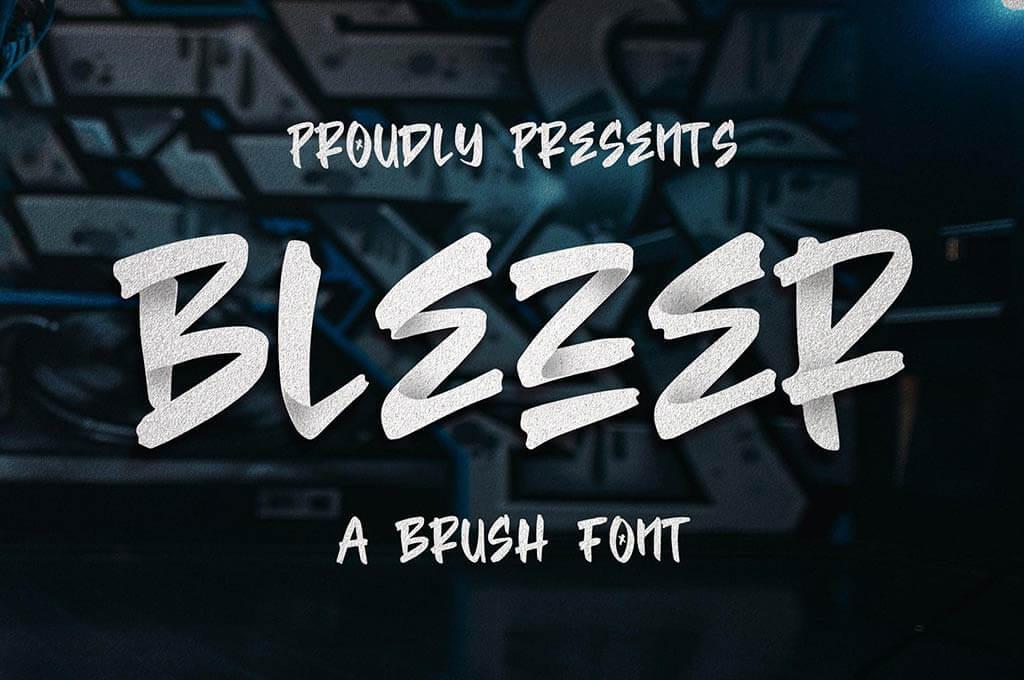Blezer Brush Font