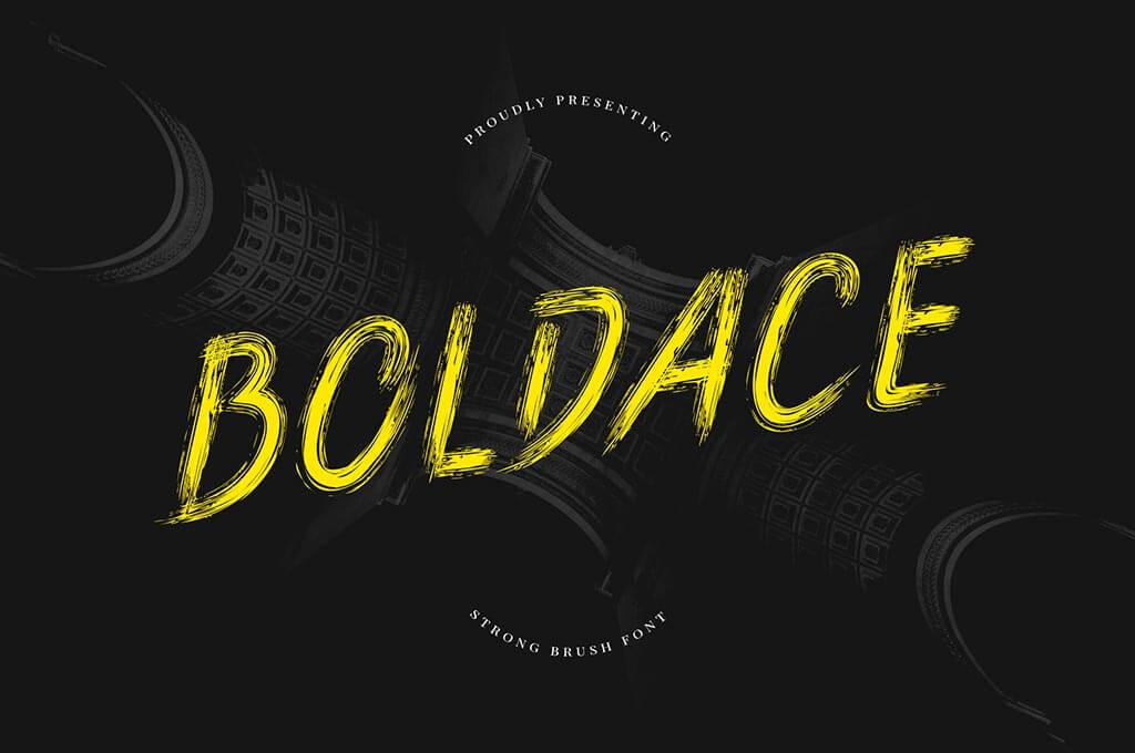 Boldace Strong Brush Font