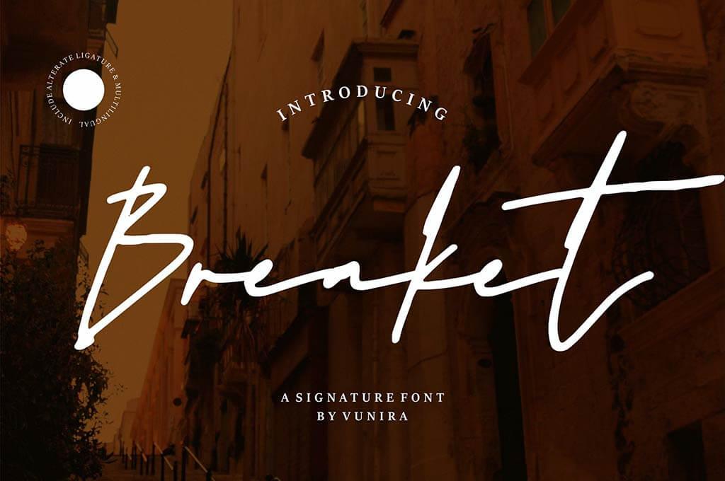 Breaket | A Signature Font