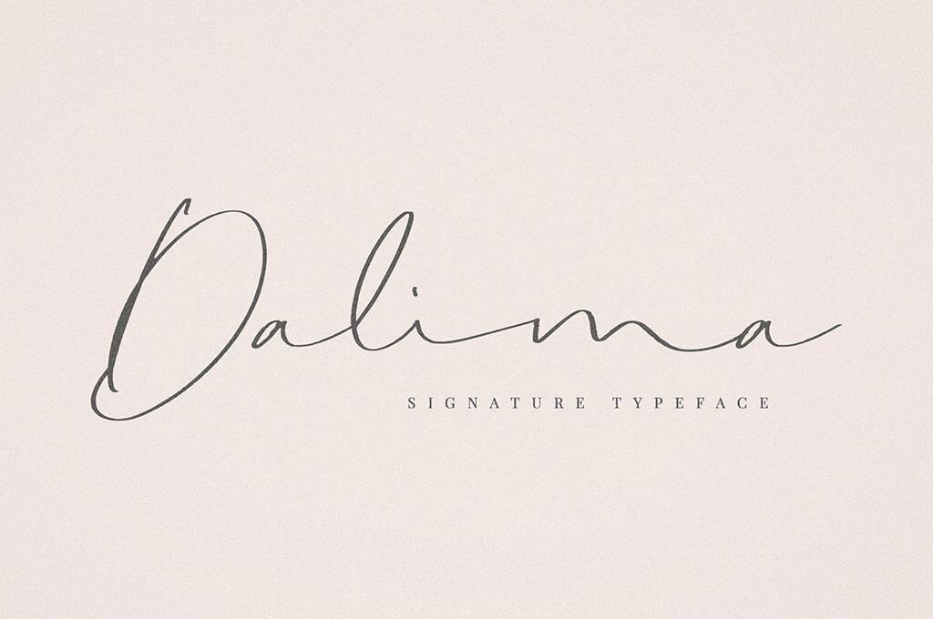 Dalima Signature Font