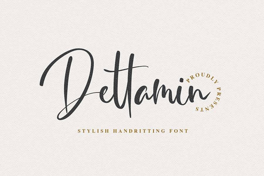 Dettamin - Stylish Handwriting Font