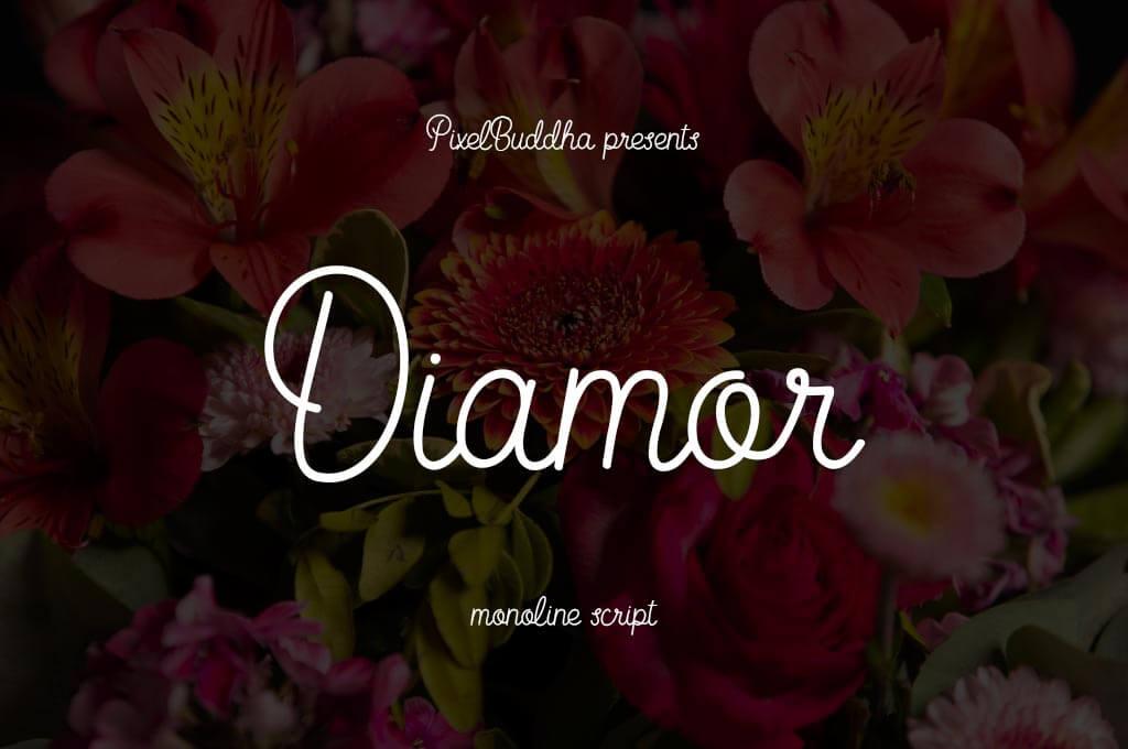 Diamor Script Monoline Font
