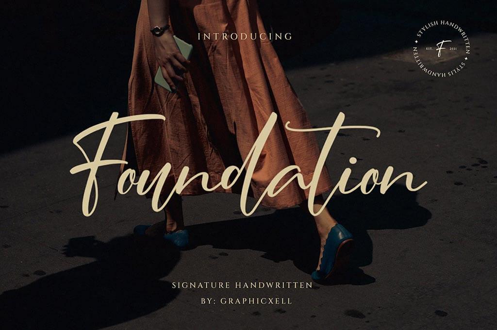 Foundation - Stylish Signature Font