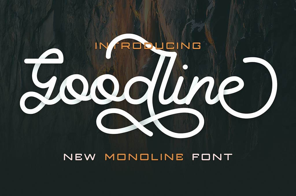 Goodline - Monoline Font