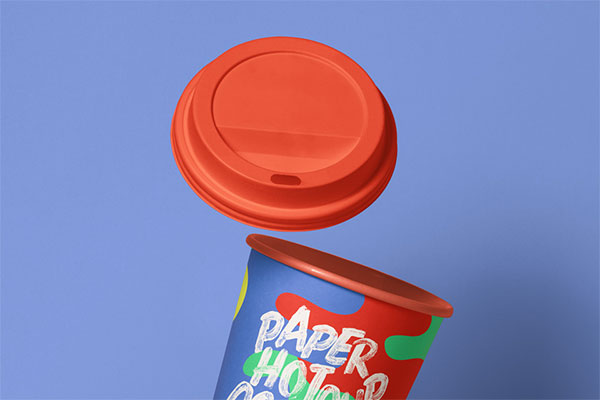 Gravity Psd Paper Hot Cup Mockup