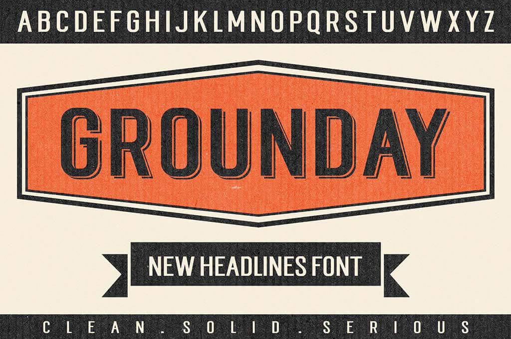 Grounday T-Shirt Font