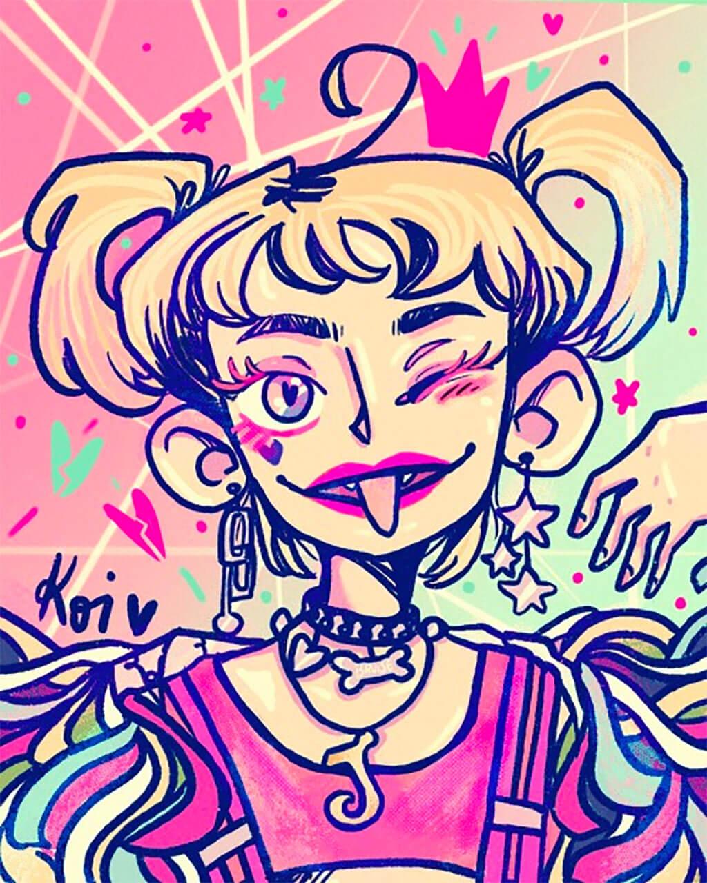 Harley Quinn Fan Art by Grace Berrios