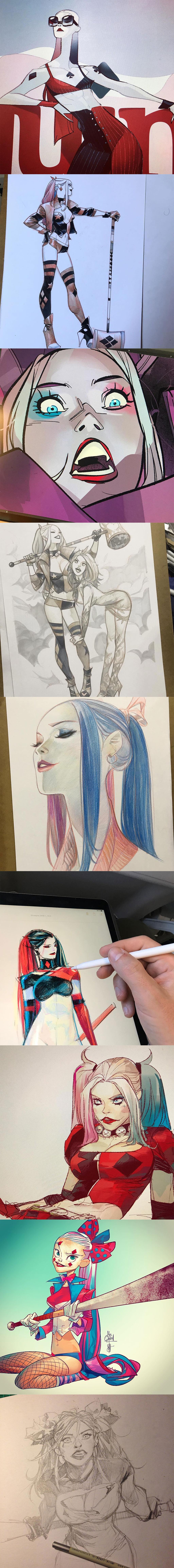 Harley Quinn Fanart by Евгений Шмидт