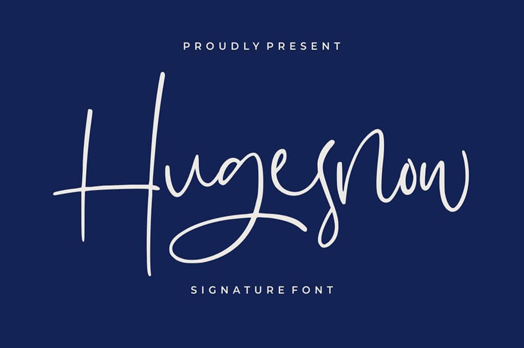 Hugesnow | Signature Font