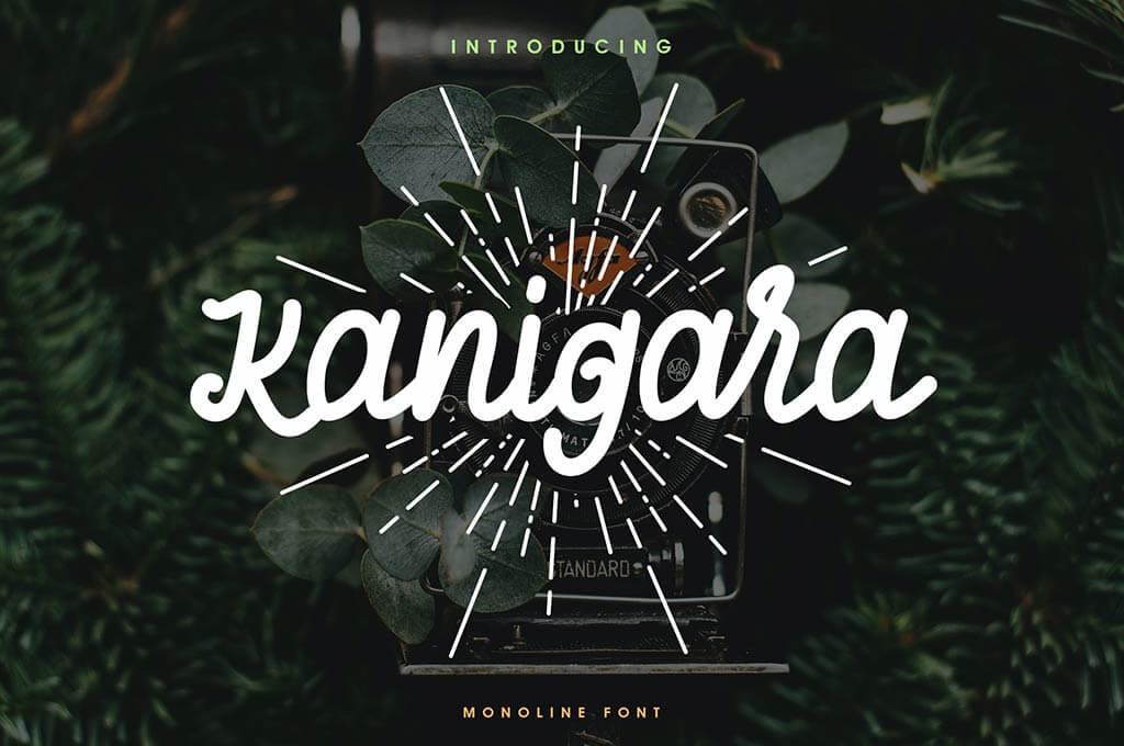 Kanigara - Monoline Font