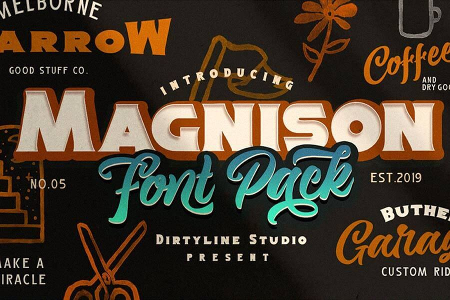 Magnison Free Retro Font
