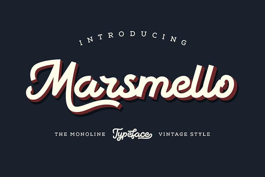 Marsmello Typeface