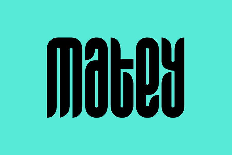 Matey Modern Font