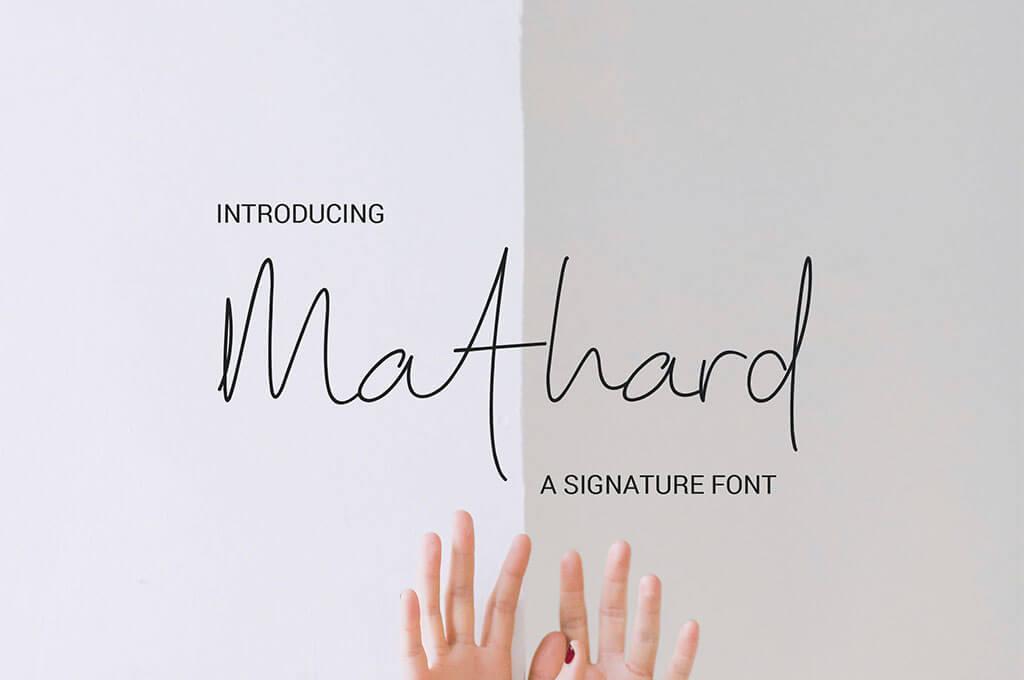 Mathard Signature Font