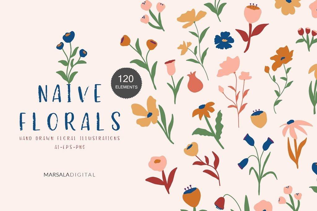 Naive Floral Illustrations