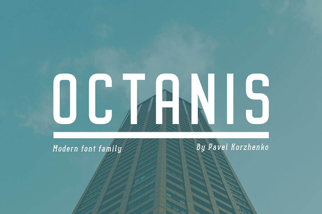 Octanis T-Shirt Fonts Family