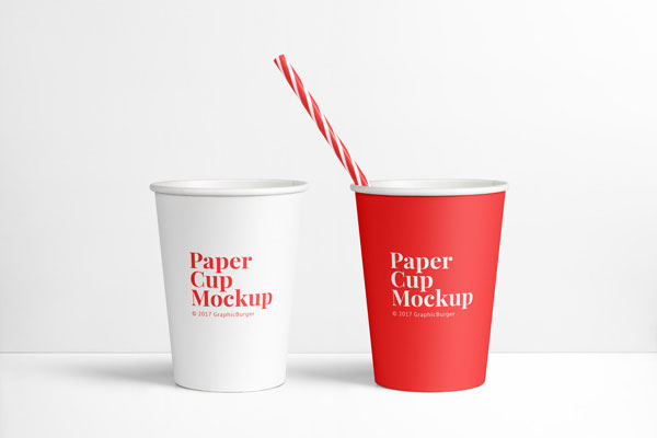 PSD Paper Cup Mockup