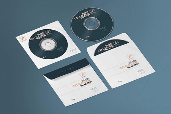 Paper CD Cover Template & CD Mockup Generator