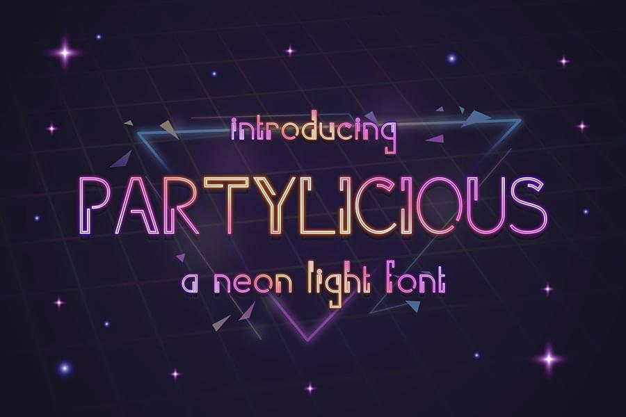 Parylicious – Modern Neon Light Font