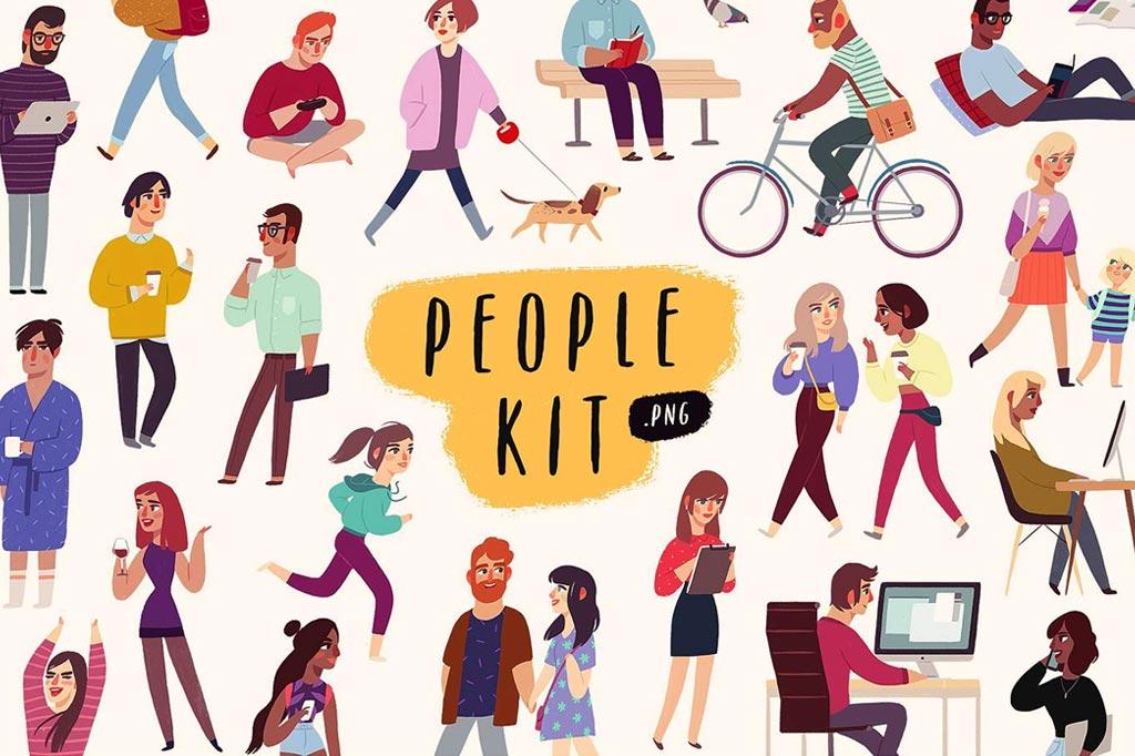 People Illustrations Kit