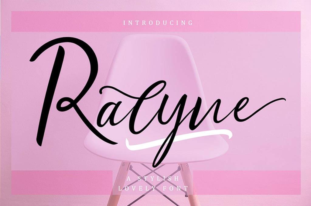 Ralyne Beautiful Cursive Font Script
