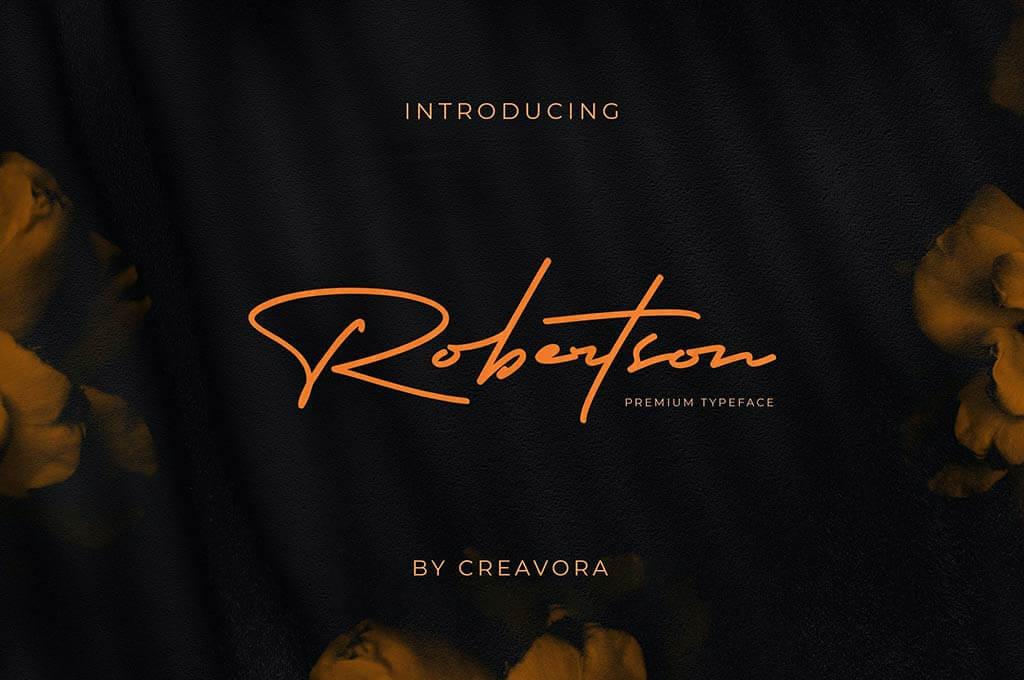 Robertson - Signature Font