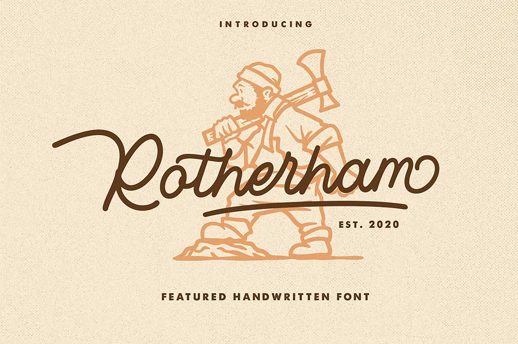 Rotherham Monoline Font
