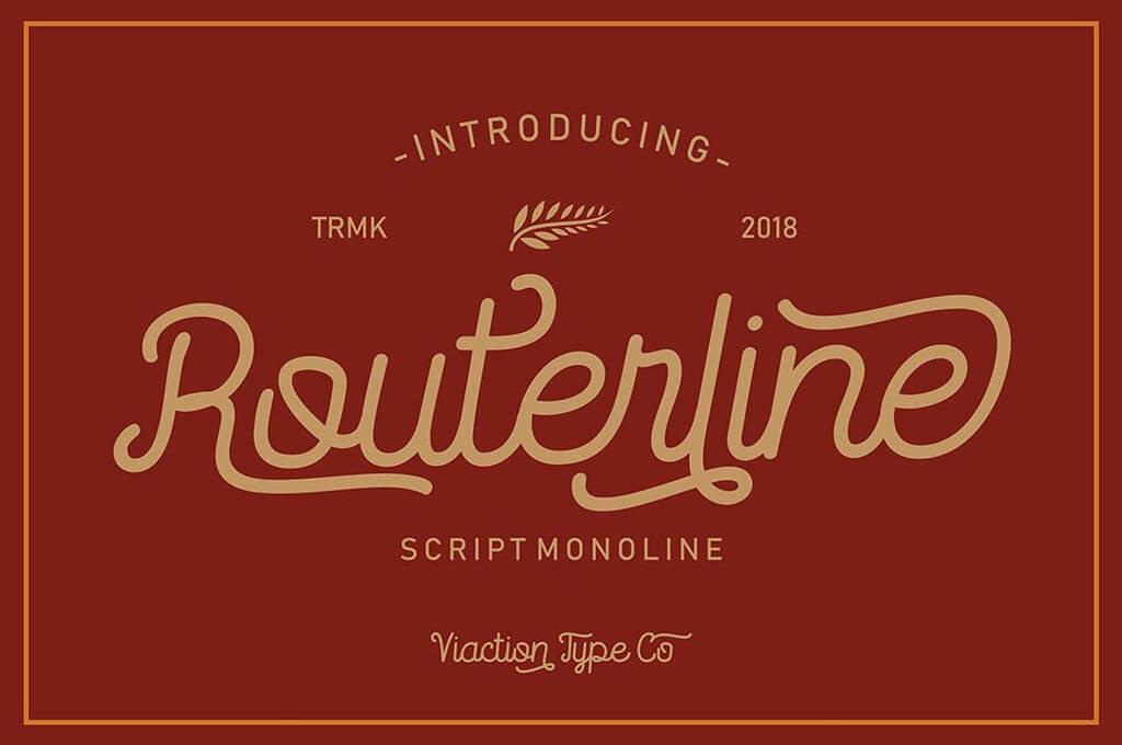 Routerline Monoline Font