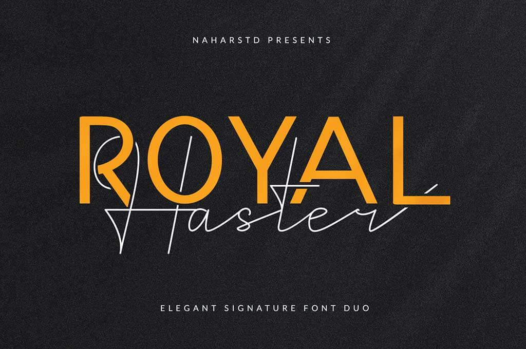 Royal Haster Monoline Font