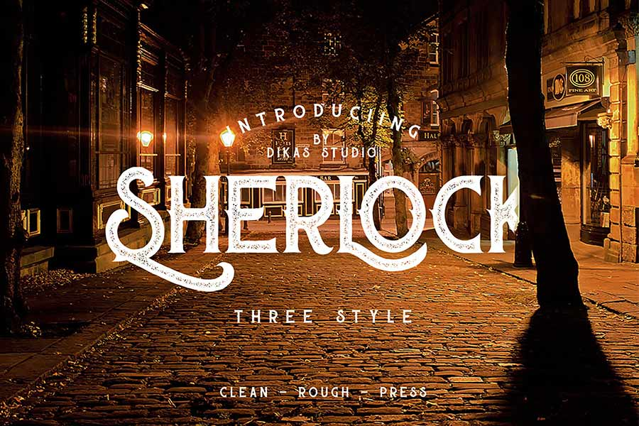 Sherlock T-Shirt Fonts