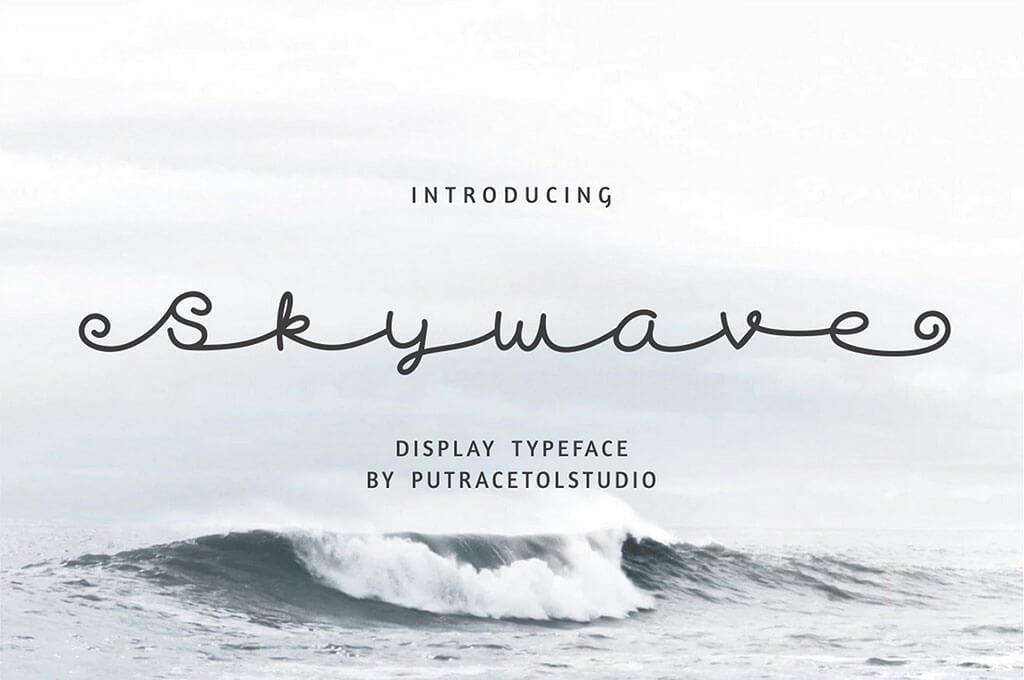 Skywave - Display Cursive Font