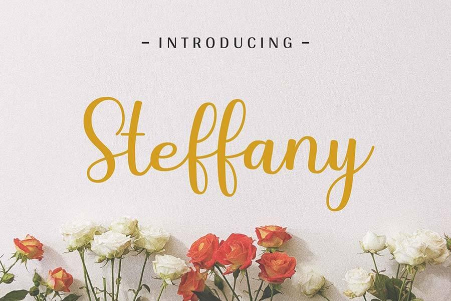 Steffany - Handwriting Font