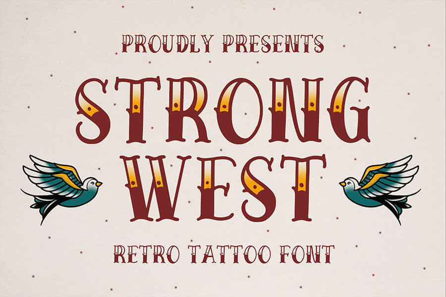 Strong West — Retro Tattoo Font