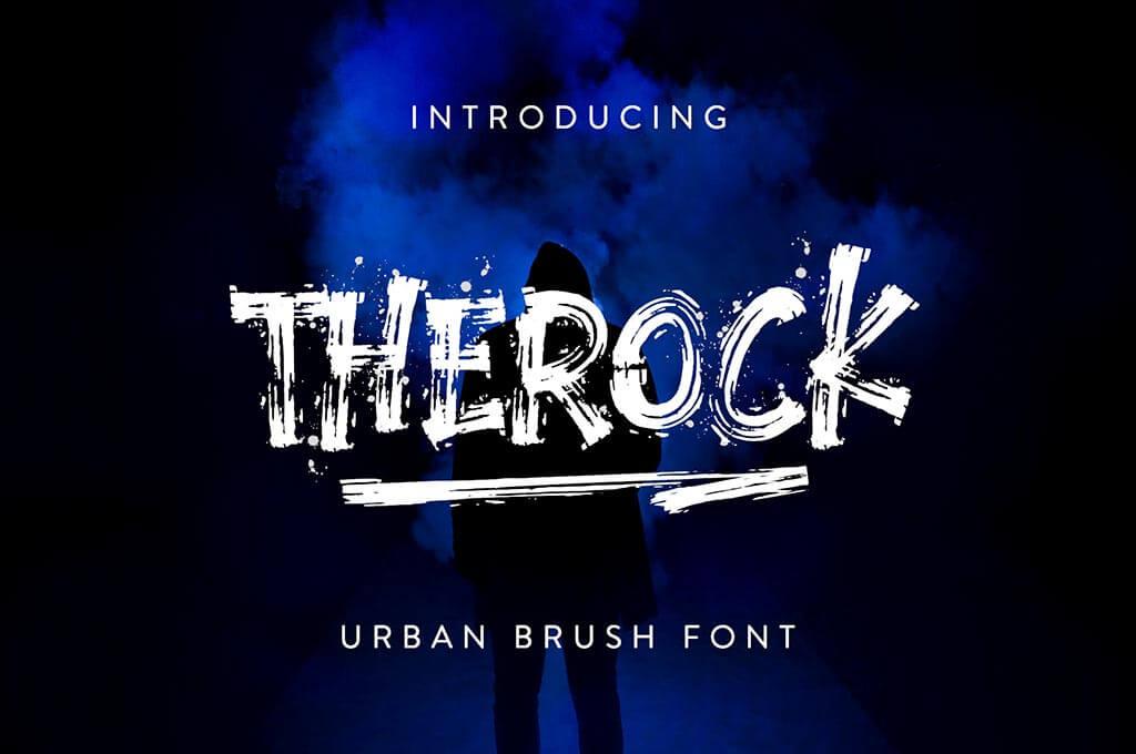 The Rock Brush Font