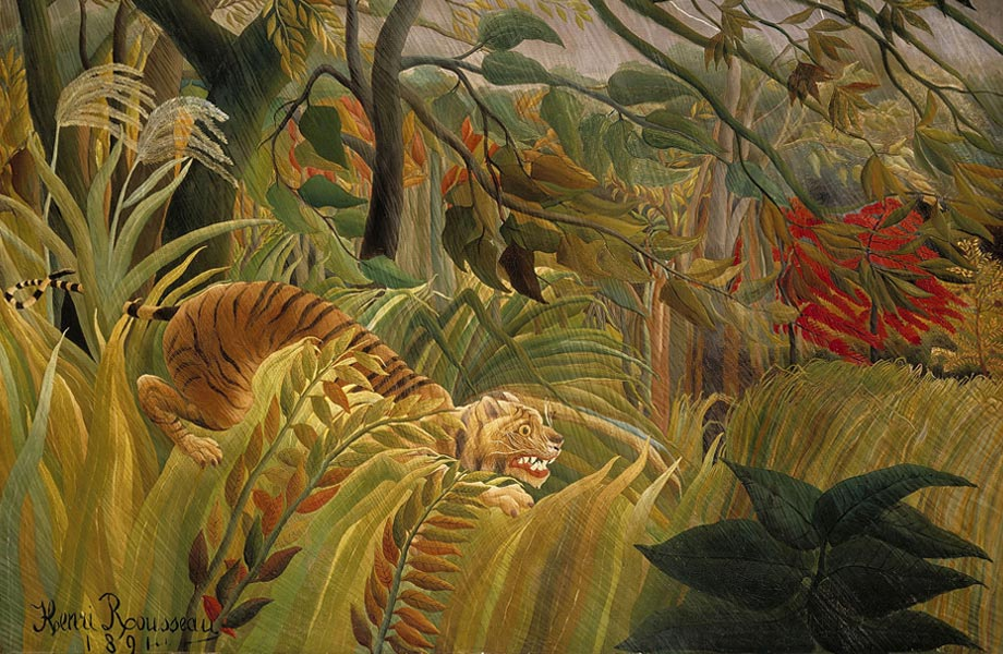 Tiger in a Tropical Storm or Surprised (1891)