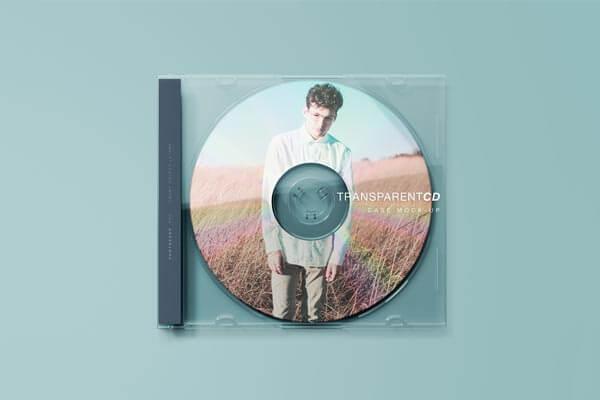 Transparent CD Mockup