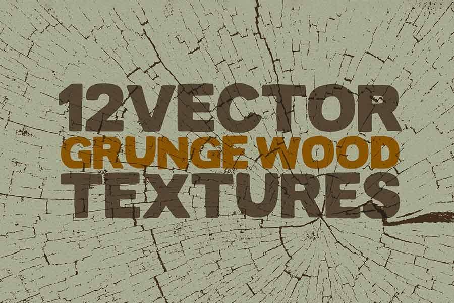 Vector Grunge Wood Textures