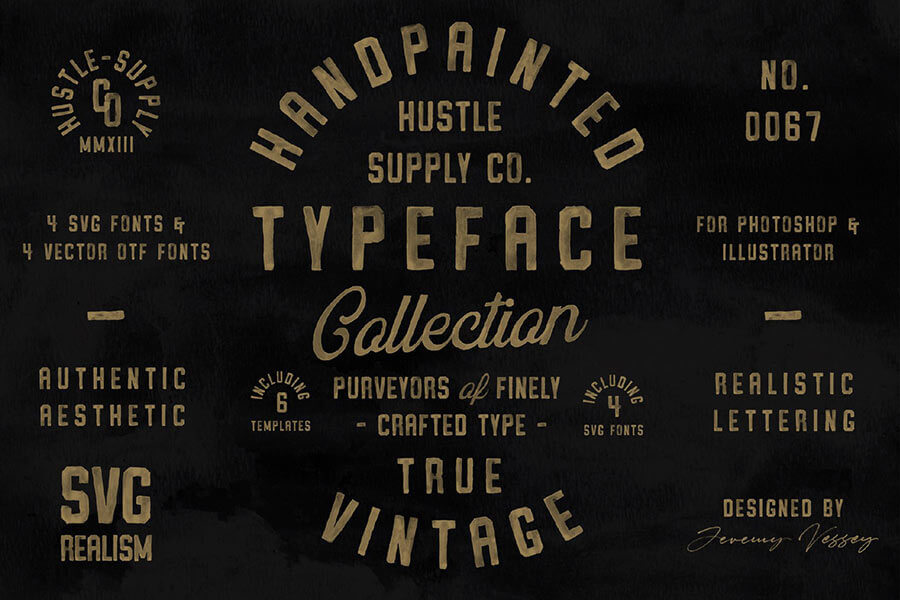 Vintage SVG Fonts & Logo Templates